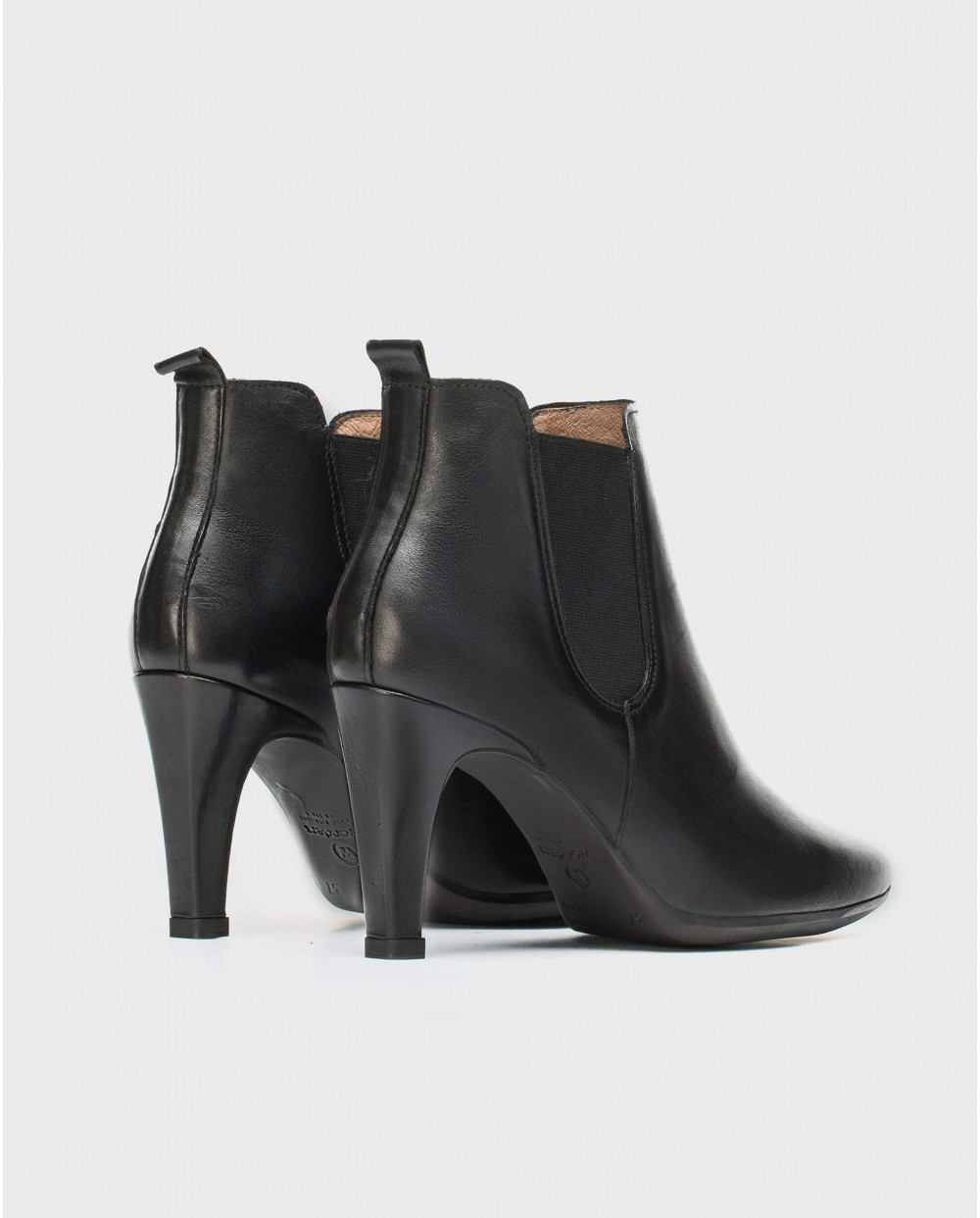 Wonders-Ankle Boots-High heeled ankle boot with elastic