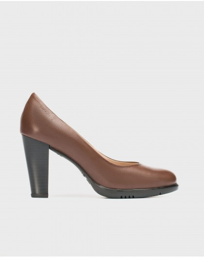 Wonders-New Season-Leather court shoe with rounded toe