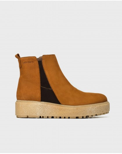 Wonders-Ankle Boots-Platform Chelsea ankle boot