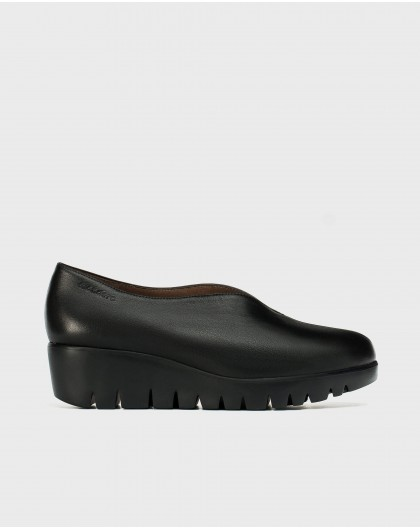 Wonders-Outlet-Black leather shoe