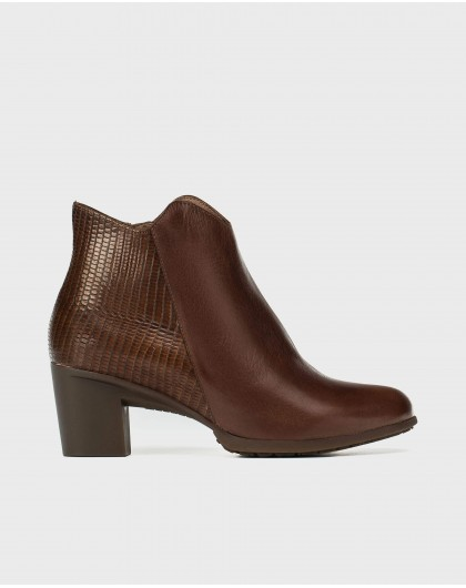 Asymmetric ankle boot