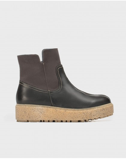 Wonders-Ankle Boots-Eco-leather ankle boot