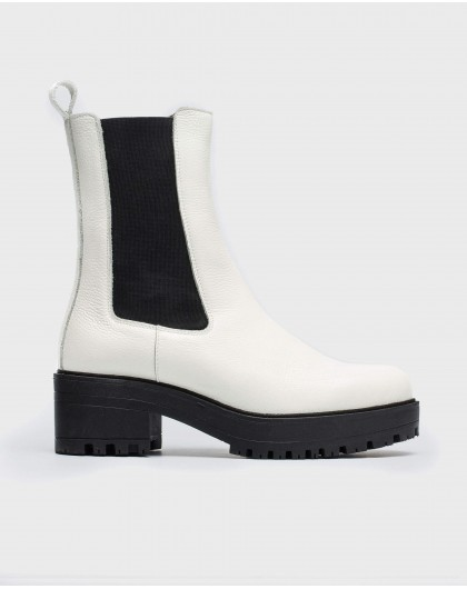 Wonders-Ankle Boots-Track sole ankle boot with elastic