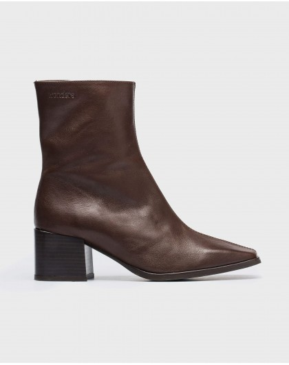 Wonders-Ankle Boots-Leather ankle boot with square heel