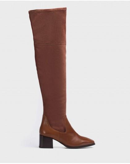 Wonders-Boots-Knee-high boot in Lycra