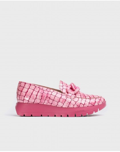 Wonders-New Season-Patent leather chain moccasin