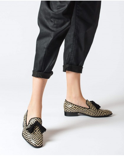 Wonders-Women-braided leather moccasin
