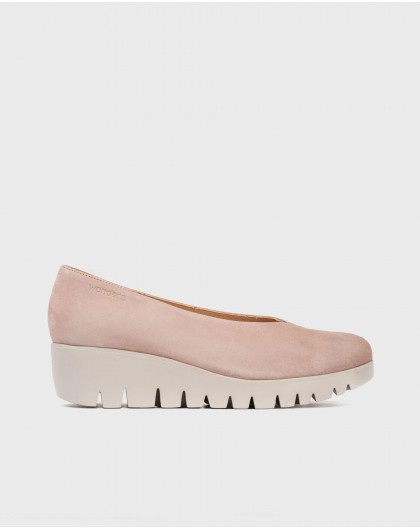 Wonders-New Season-Leather throat court shoes