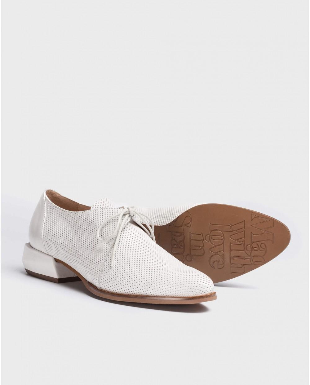 Wonders-Flat Shoes-Shoe with geometric heel