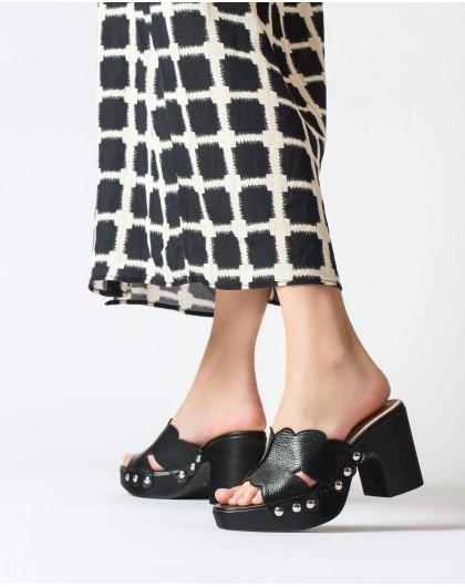 Wonders-Sandals-Leather platform clog