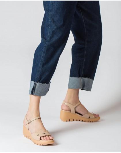 Wonders-Women-Geometric cut sandal