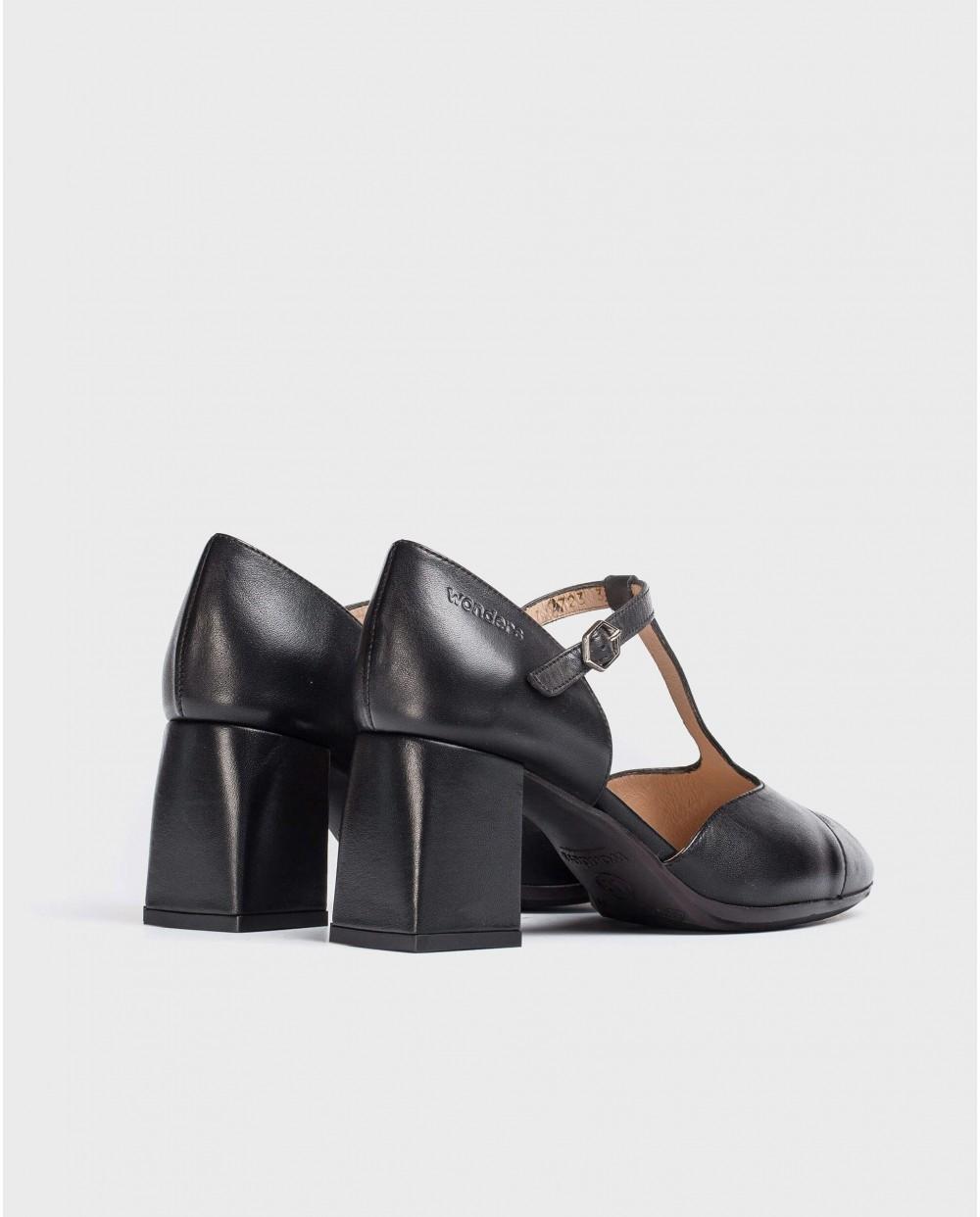 Wonders-Women-T-Bar leather shoe