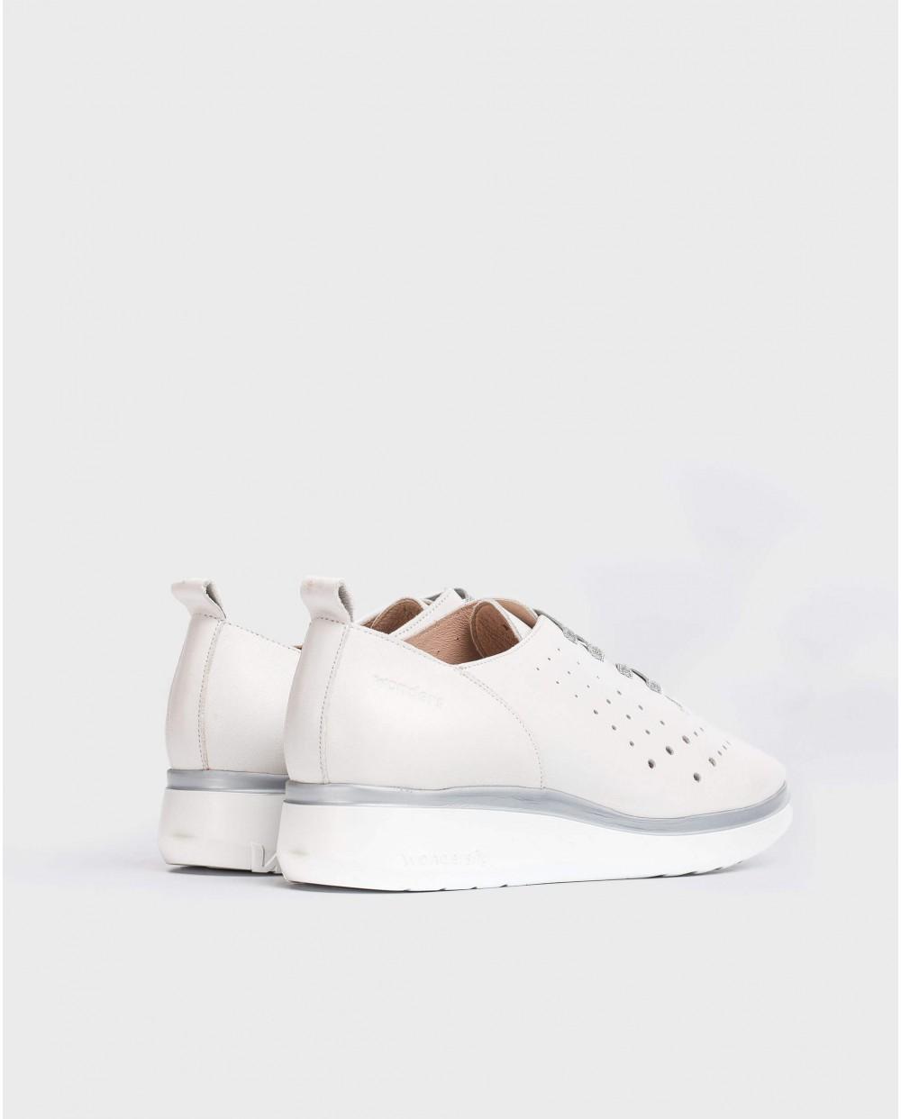 Wonders-Women-Leather sneakers with elastic detail