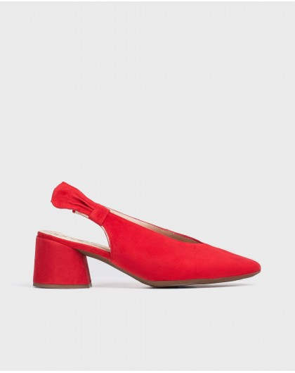 Wonders-Heels-Leather shoe with bow