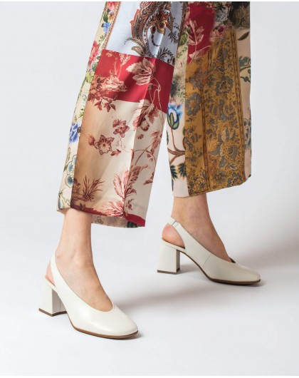 Wonders-Heels-Backless leather shoe