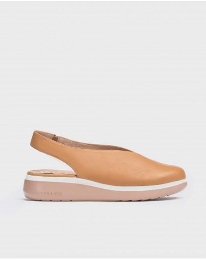 Leather V cut shoe