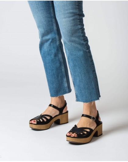 Wonders-Sandals-Perforated wedge sandal