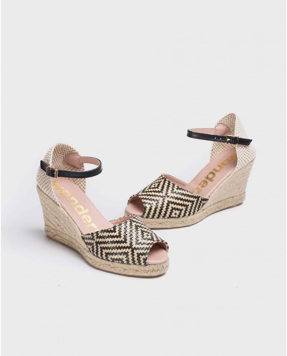 Wonders-Women-Jute peep toe sandal