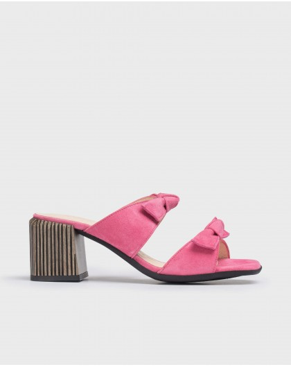 Wonders-Sandals-High heeled bow sandal