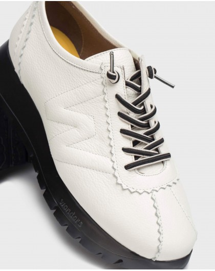 Wonders-Flat Shoes-White B-Star Sneaker