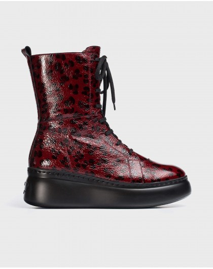 Wonders-Ankle Boots-Red Boxing Ankle Boot