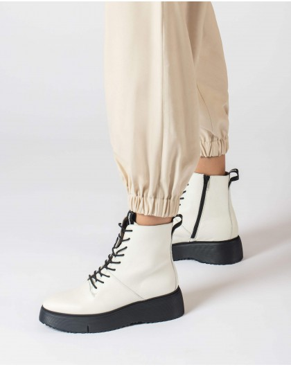 Wonders-Ankle Boots-White Bristol Ankle boot