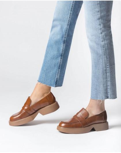 Wonders-Flat Shoes-Brown Hero Moccasin