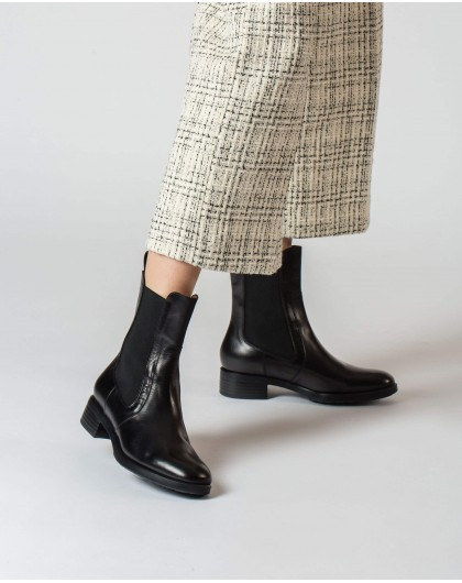 Wonders-Ankle Boots-Black Radio Ankle Boot