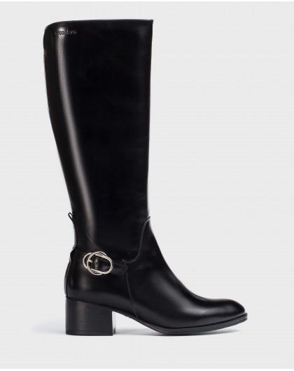 Wonders-Boots-Black H-Niza Boot