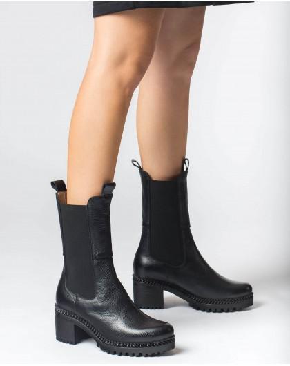 Wonders-Ankle Boots-Black Toro Boot