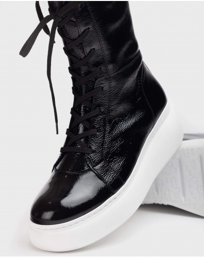Wonders-Ankle Boots-Black Boxing Ankle Boot