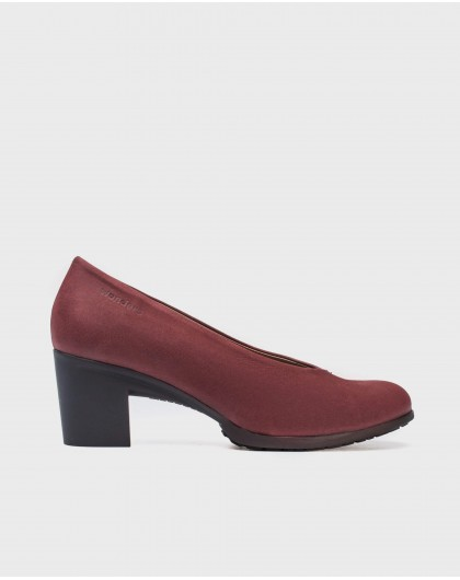 Wonders-Heels-Suede V cut shoe