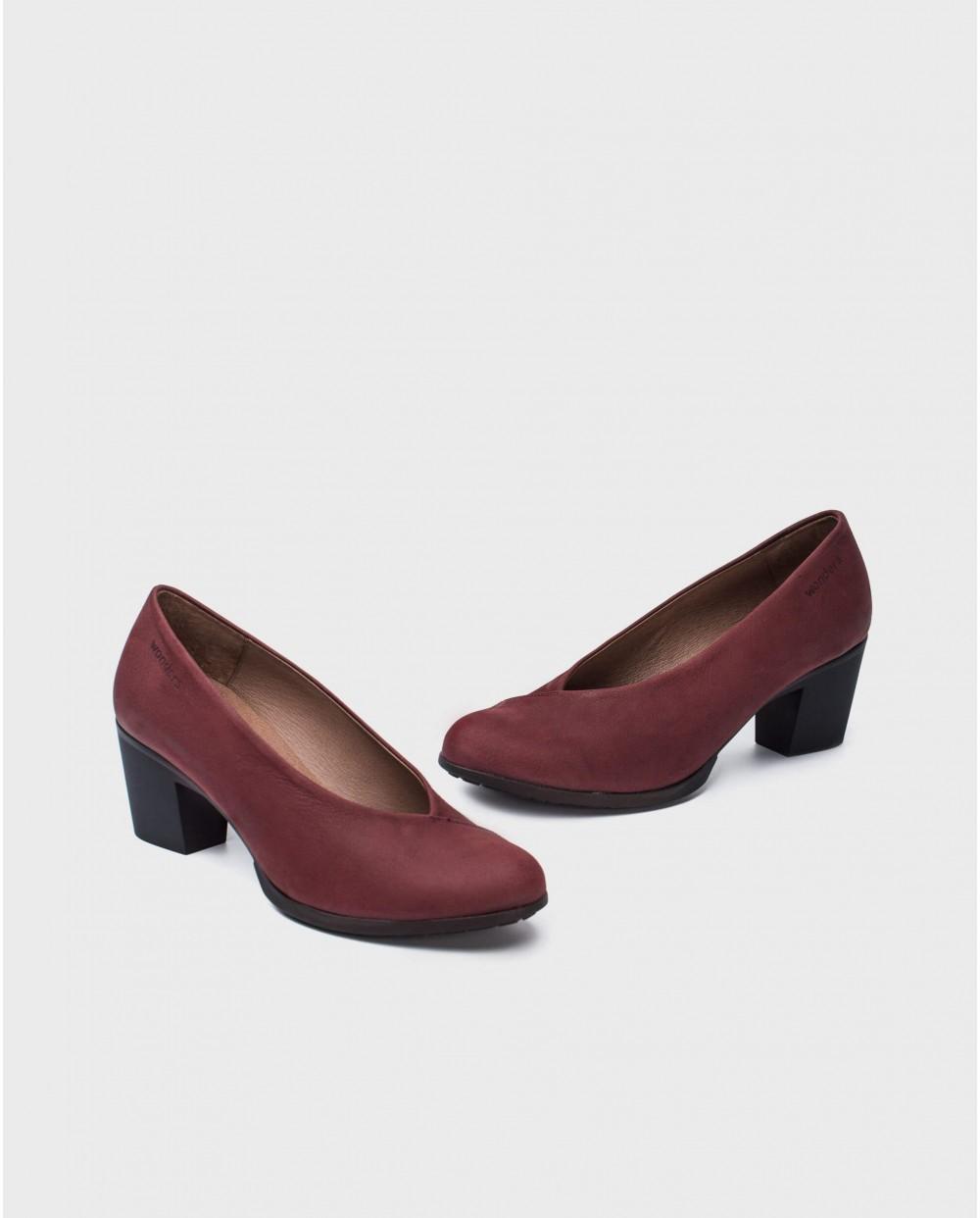 Wonders-Heels-Suede V cut shoe