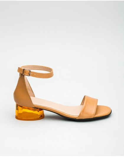 Wonders-Sandals-Leather sandal with enclosed heel