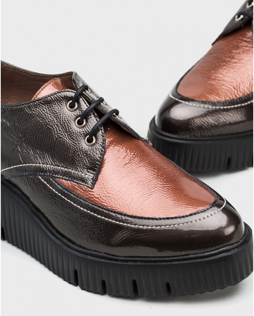Wonders-Flat Shoes-Shoe combined in two colours