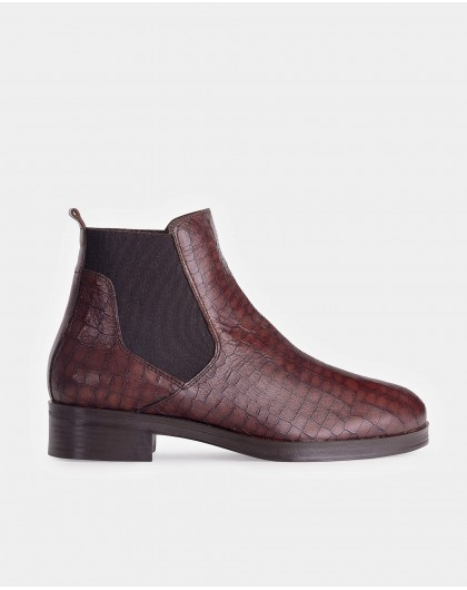 Wonders-Outlet-Mock croc leather ankle boot.