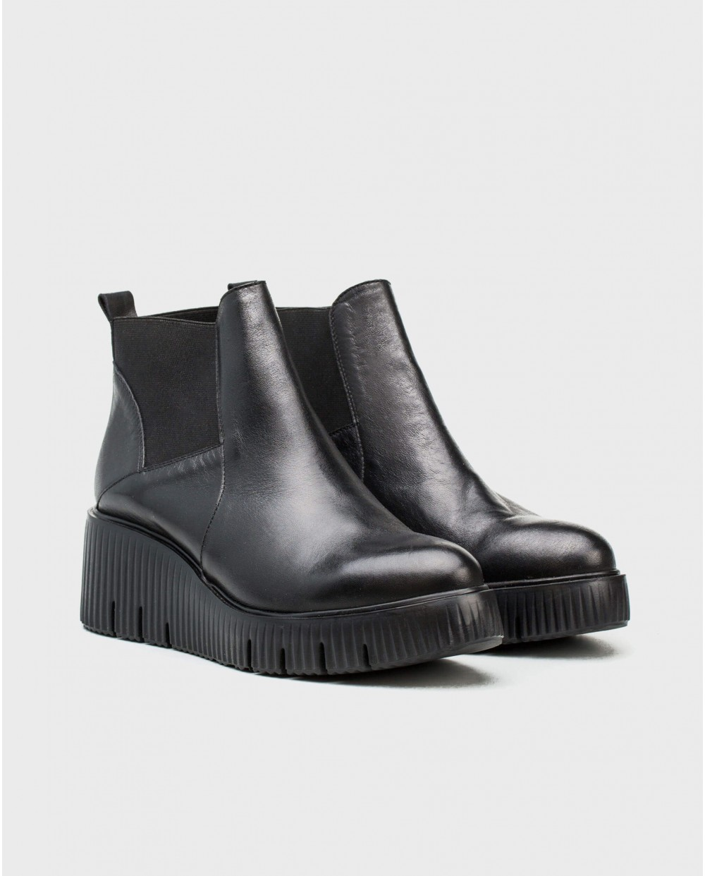 Wonders-Ankle Boots-Leather ankle boot with elastic