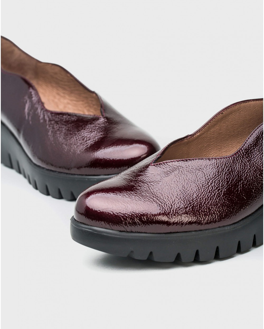Wonders-Wedges-Patent leather moccasins
