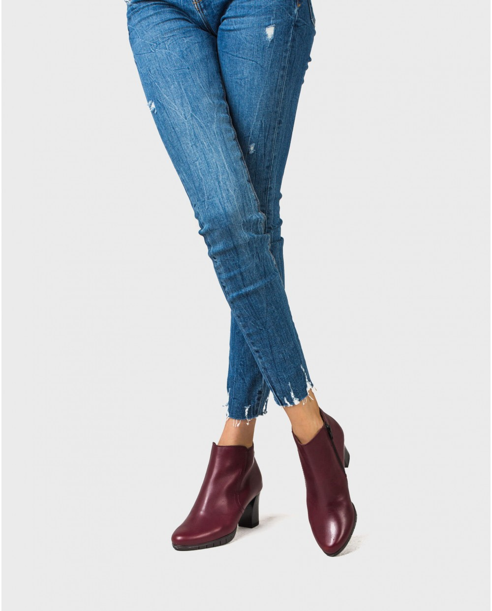 Wonders-Ankle Boots-High heel leather ankle boot