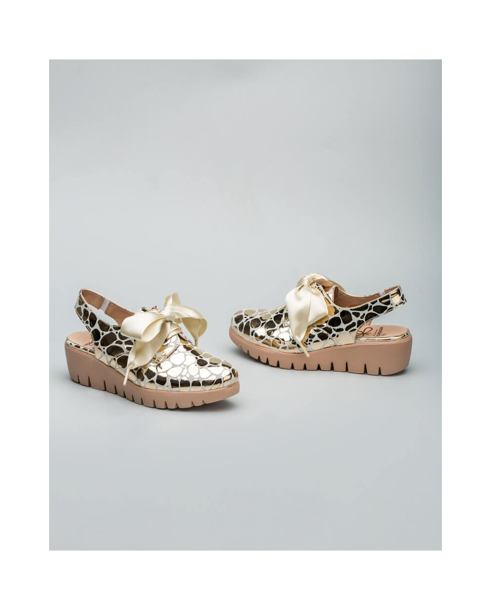 Wonders-Collections-Gold loafer mules