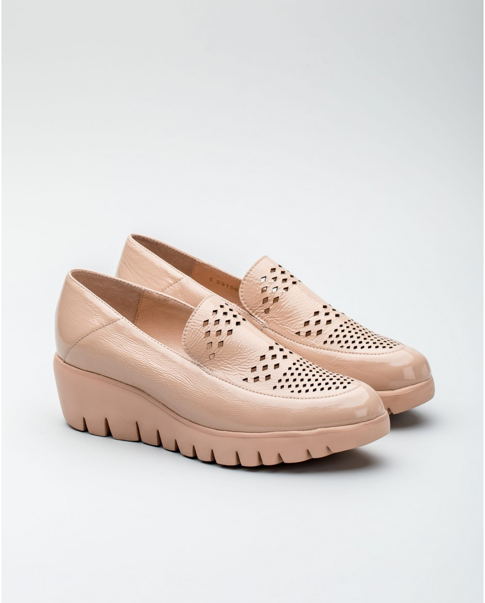 Leather loafer mule