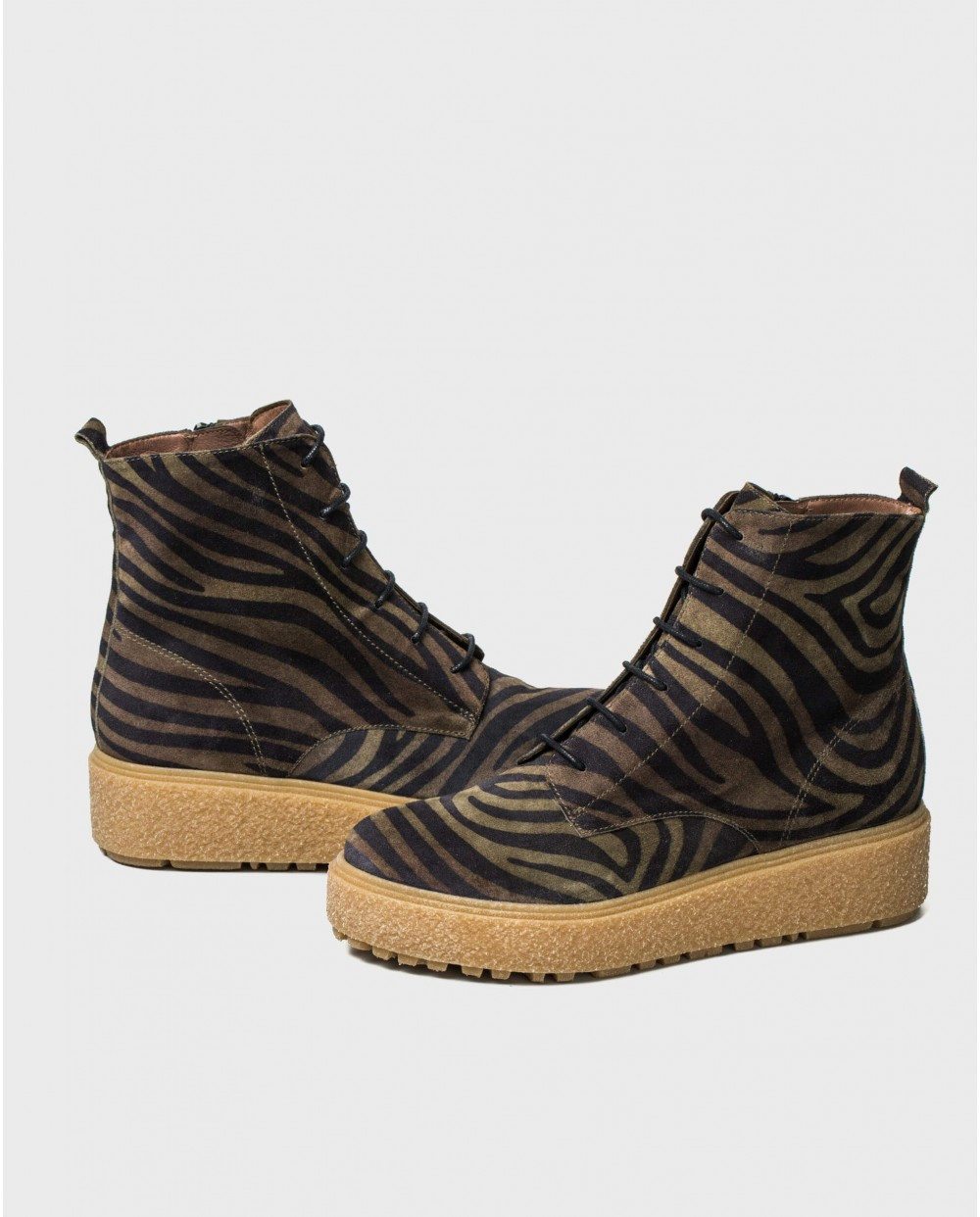 Wonders-Ankle Boots-Zebra print ankle boot