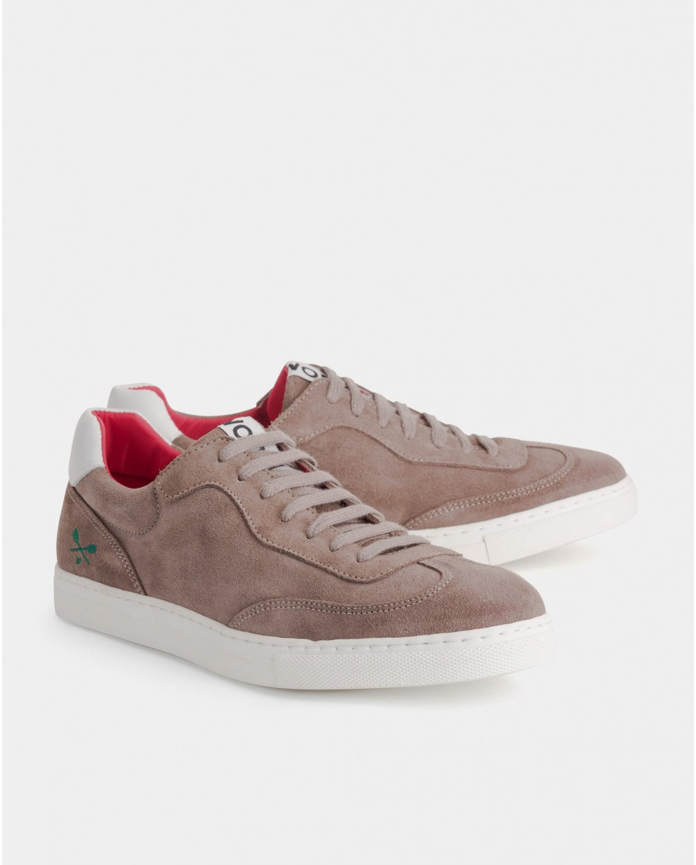Wonders-Sneakers-Suede leather sneaker with shoelace closure