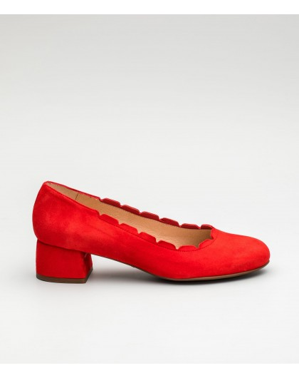 Wonders-Collections-Leather loafer with brogue detail