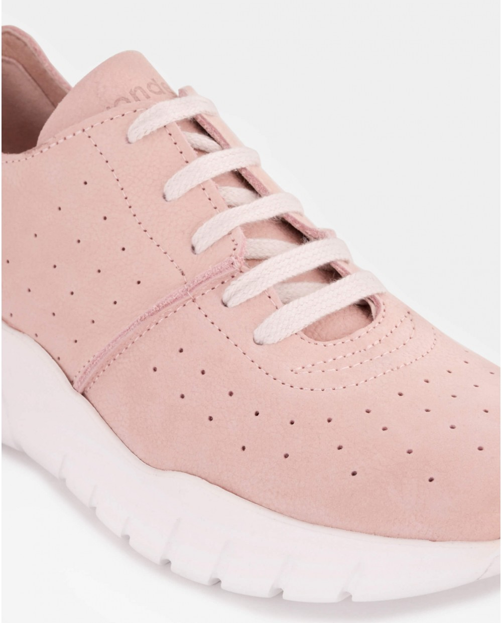 Wonders-Special Prices-Perforated suede leather sneaker