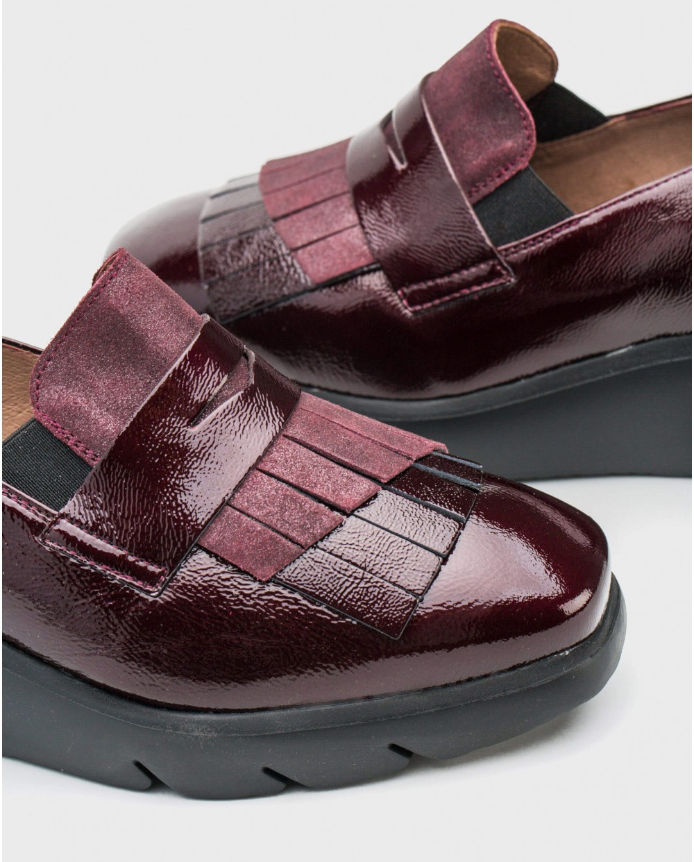 Wonders-Flat Shoes-Penny loafers with tassel detail
