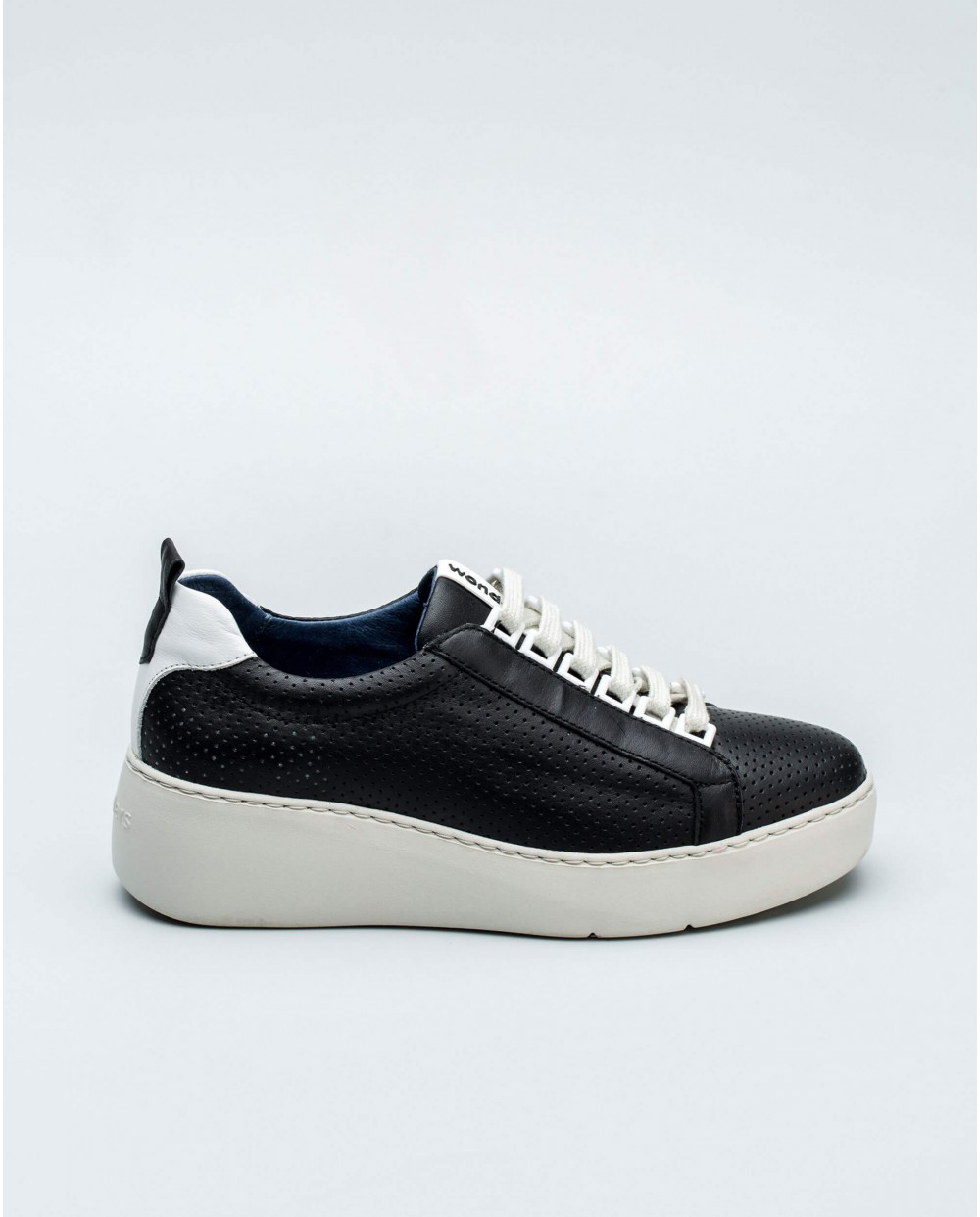 micro perforated leather sneakers