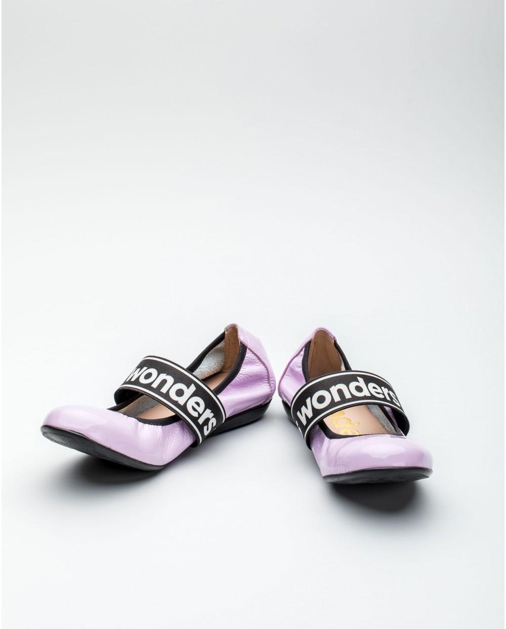 Wonders-Flat Shoes-Jewel detail sandal