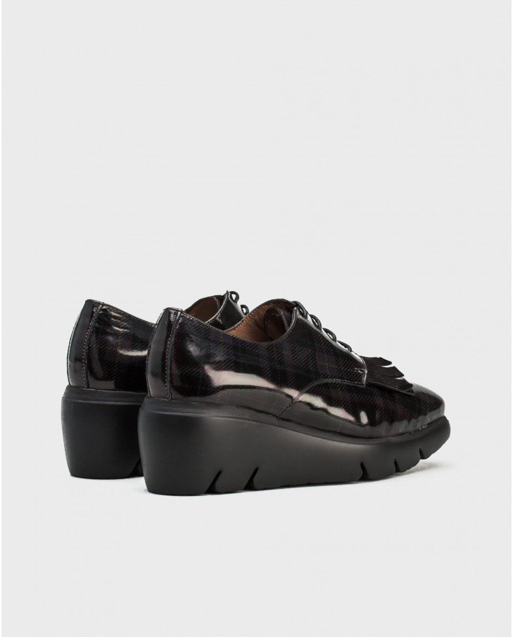 Wonders-Flat Shoes-Bluchers with fringe detail