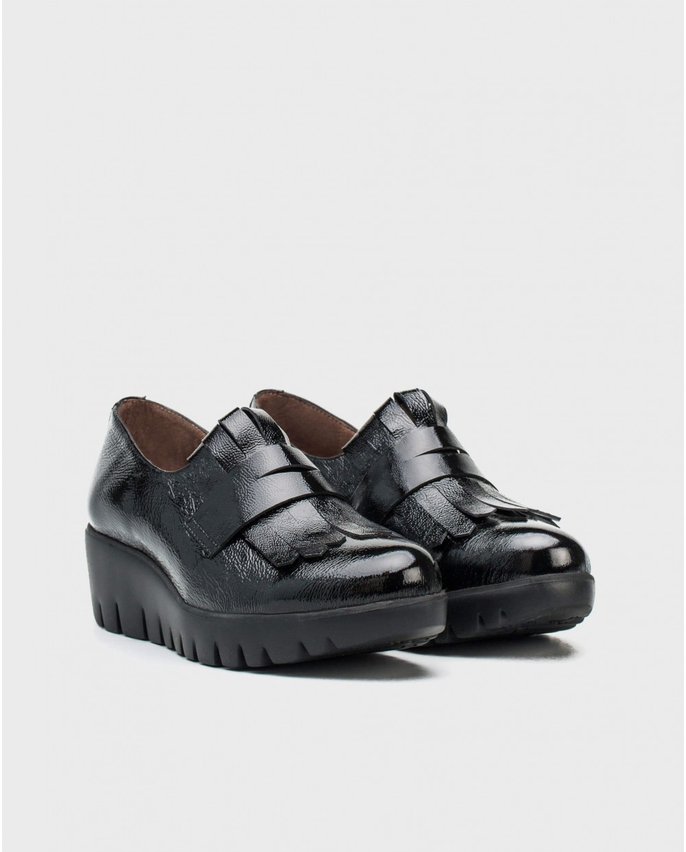 Wonders-Wedges-Patent leather moccasin